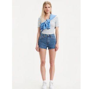 Levi's Denizen High Rise Vintage Style Jean Shorts